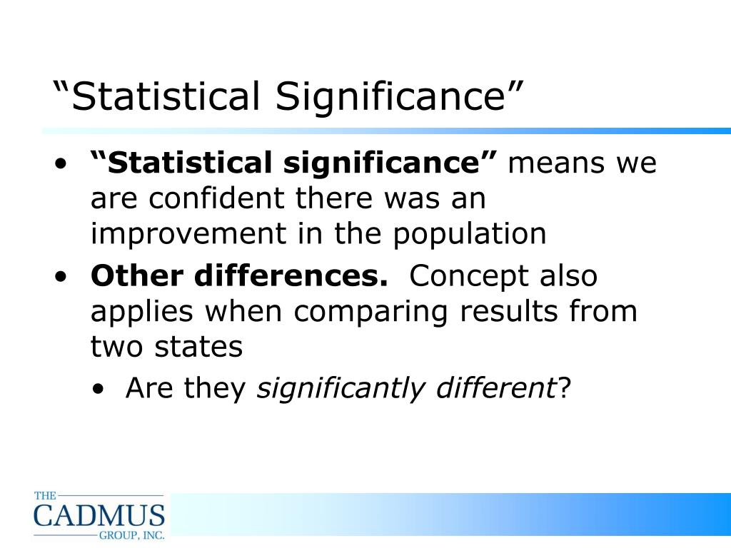 """""""Statistical Significance"""""""