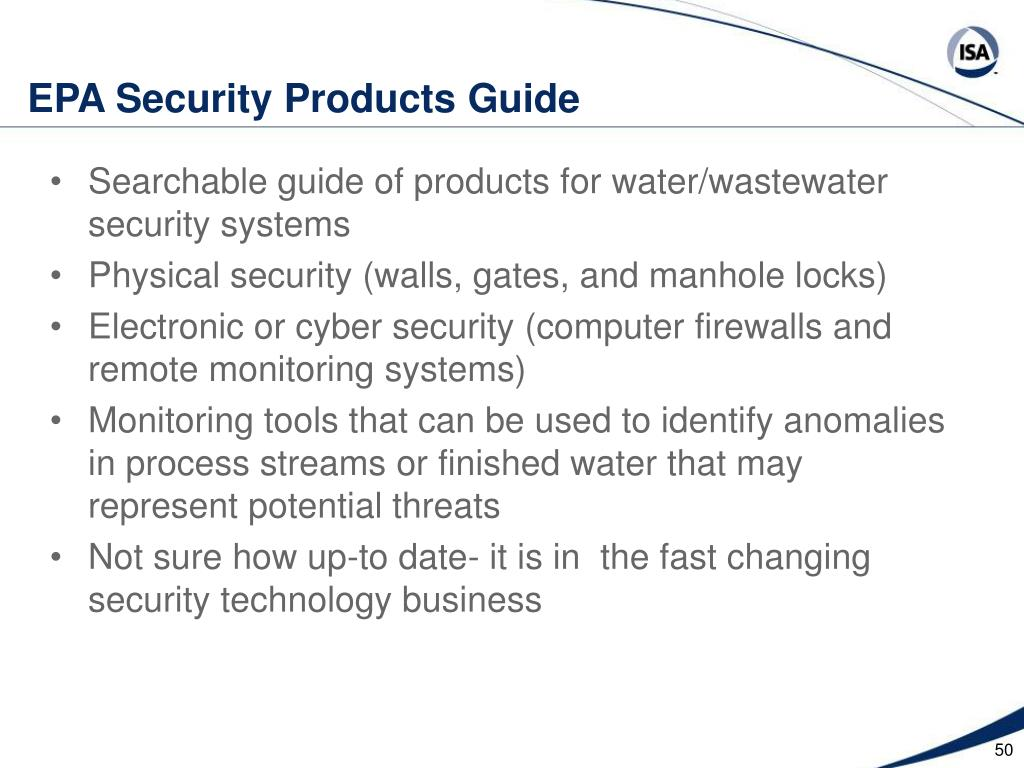 EPA Security Products Guide
