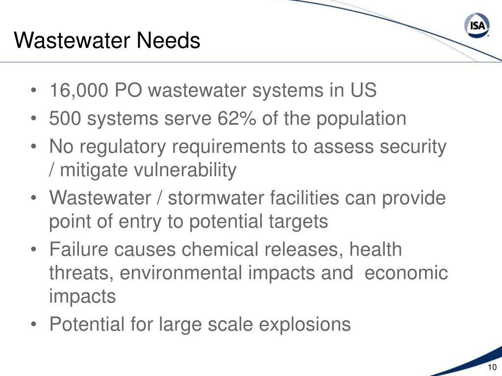 Wastewater Needs