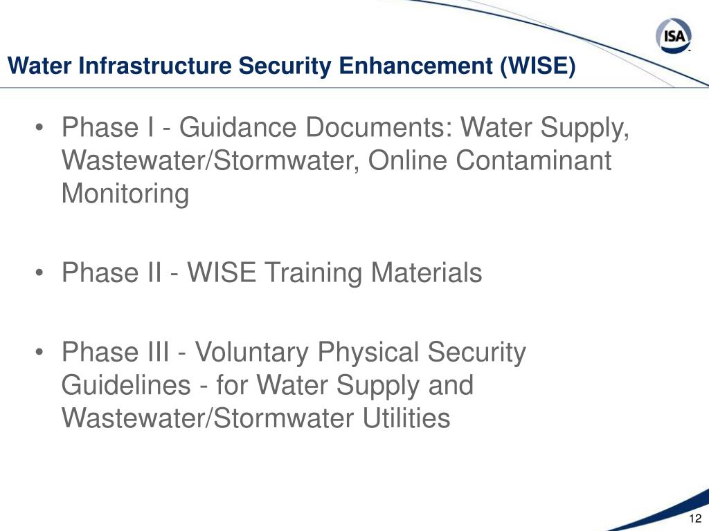 Water Infrastructure Security Enhancement (WISE)