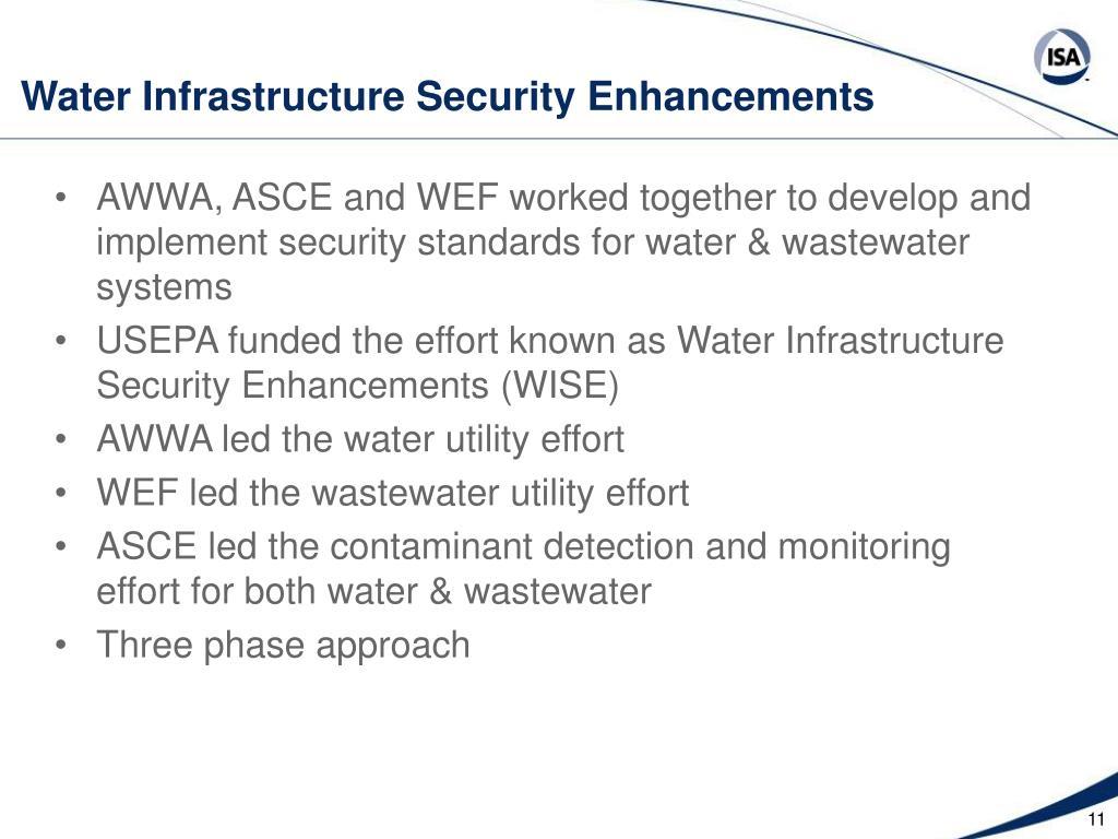 Water Infrastructure Security Enhancements