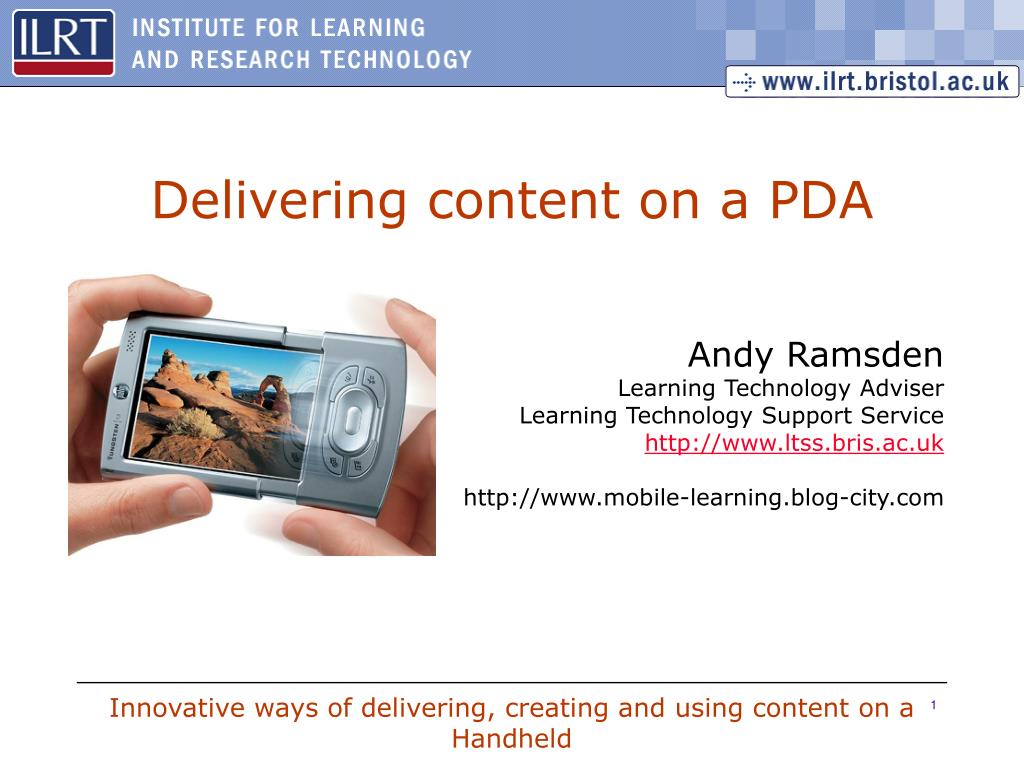 delivering content on a pda l.