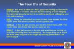 the four d s of security