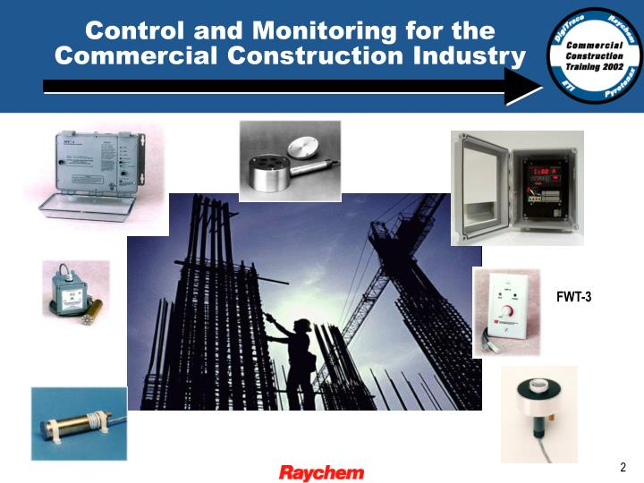 Control and monitoring for the commercial construction industry