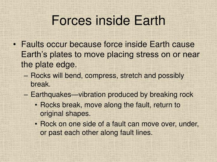 Forces inside earth3