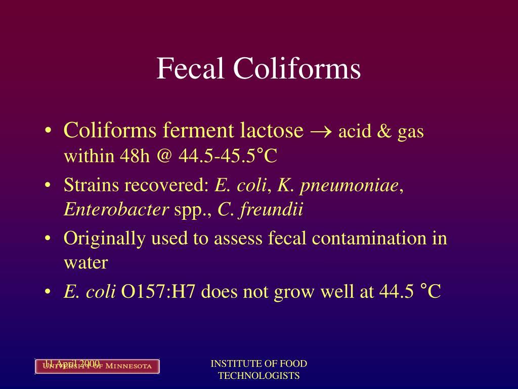Fecal Coliforms