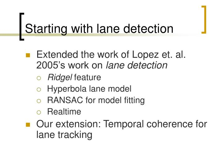 Starting with lane detection