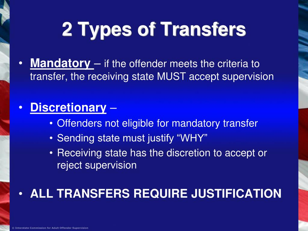 2 Types of Transfers