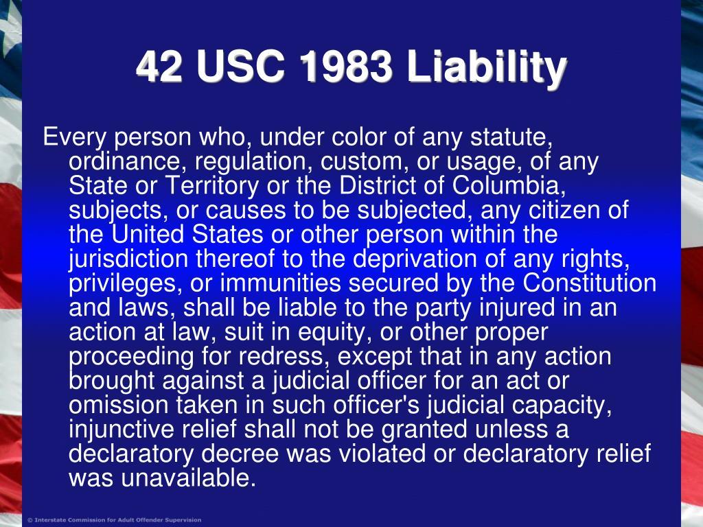 42 USC 1983 Liability