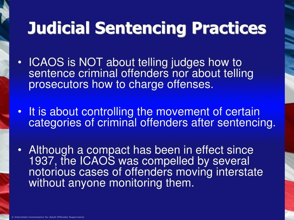 Judicial Sentencing Practices