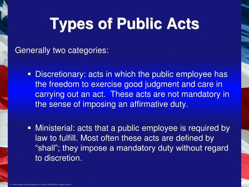 Types of Public Acts