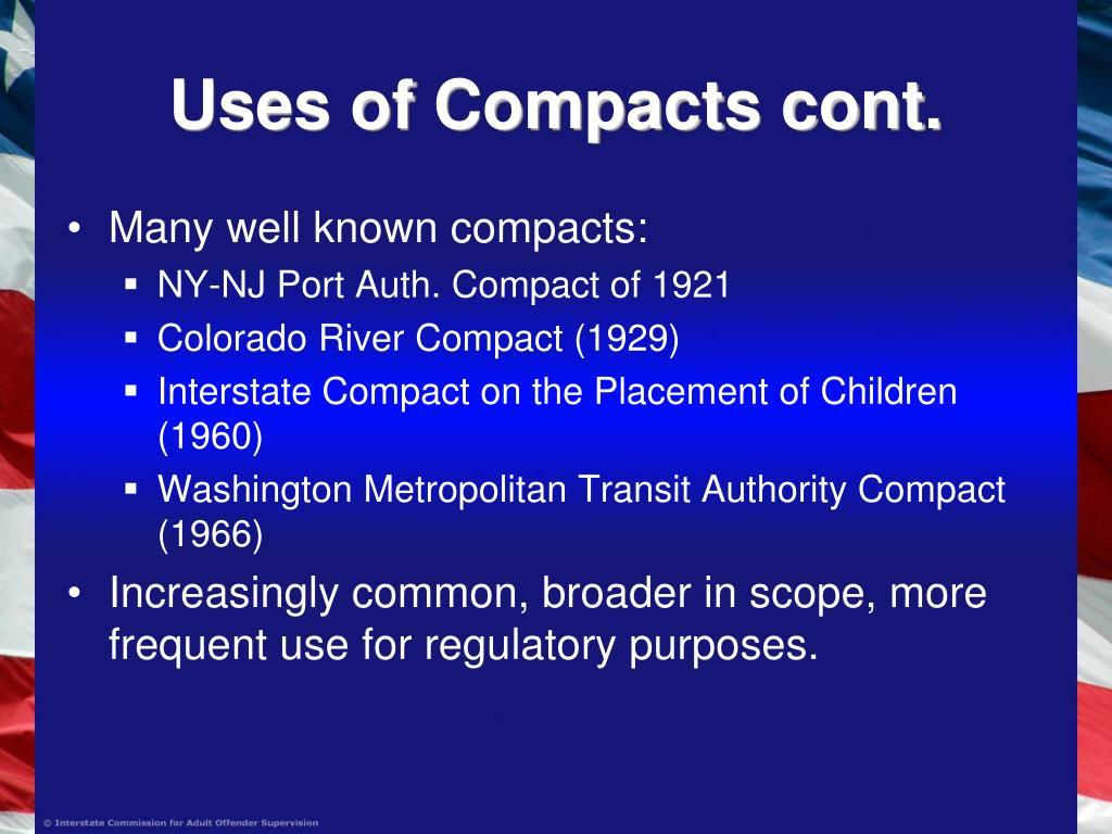 Uses of Compacts cont.