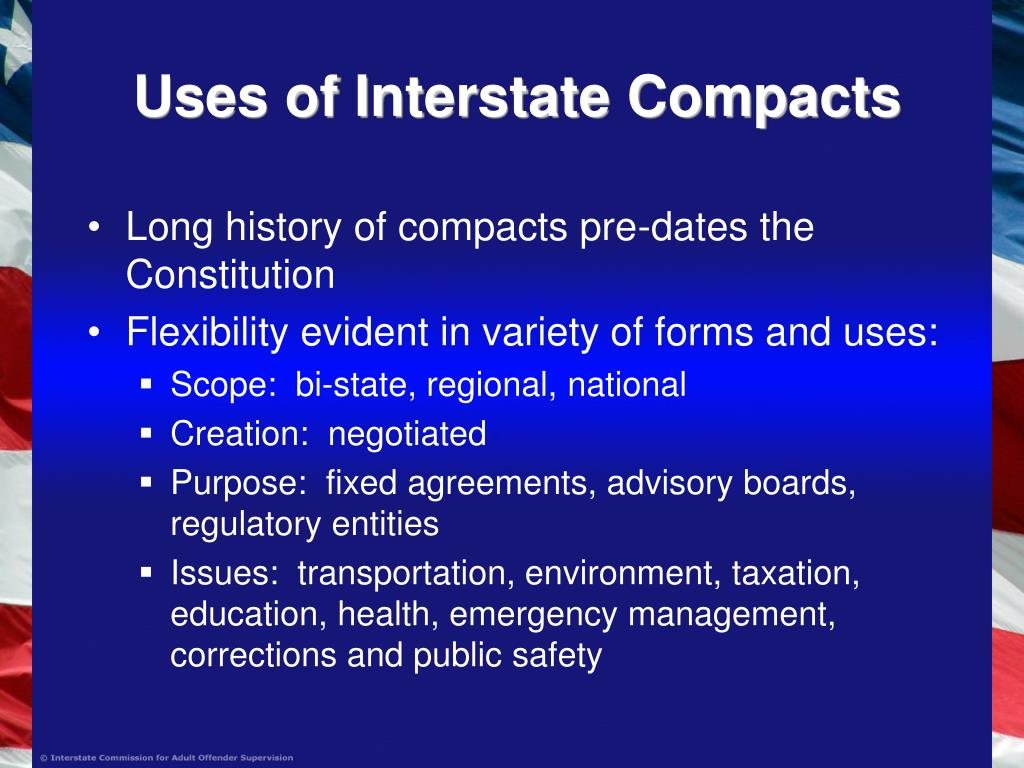 Uses of Interstate Compacts