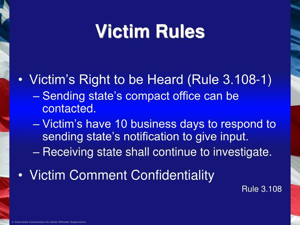 Victim Rules
