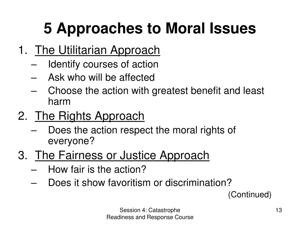 5 Approaches to Moral Issues
