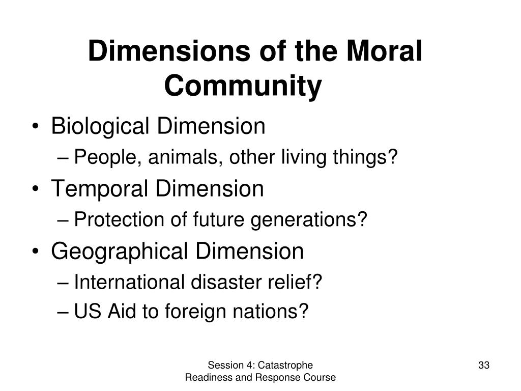 Dimensions of the Moral Community