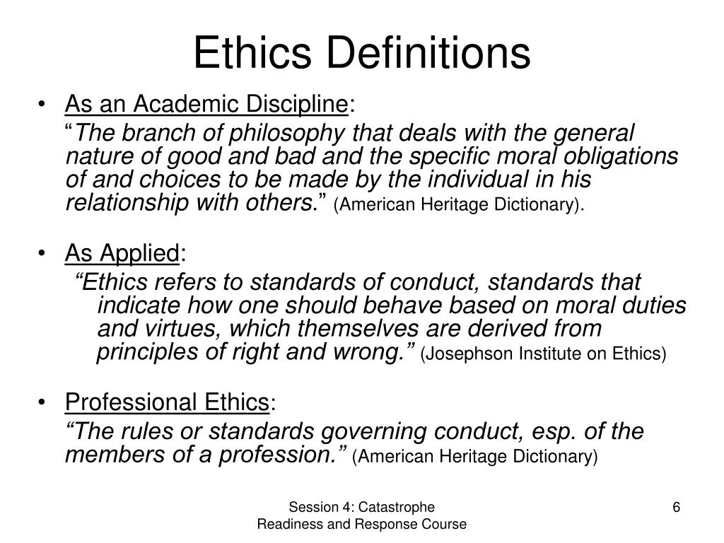 Ethics Definitions