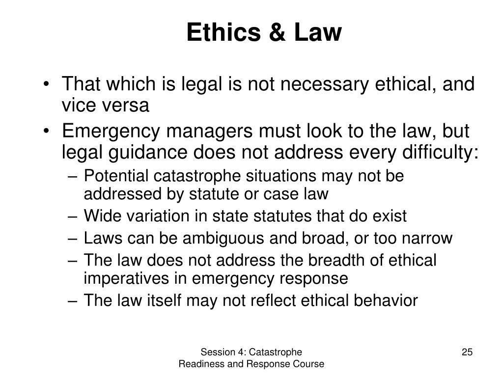 Ethics & Law