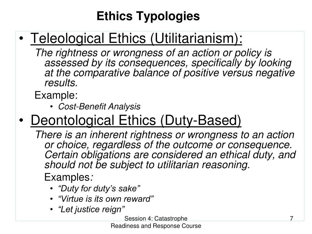 Ethics Typologies