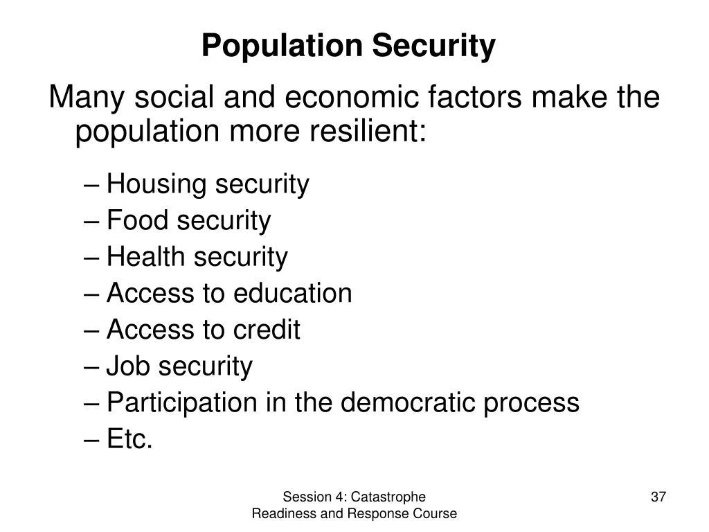 Population Security