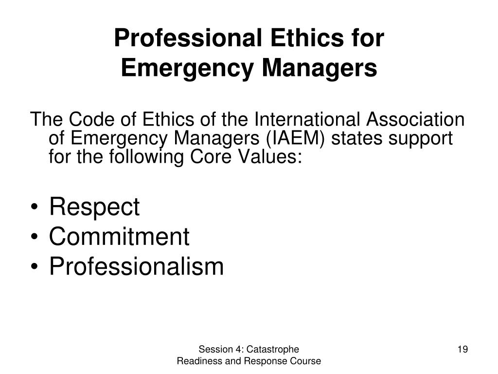 Professional Ethics for