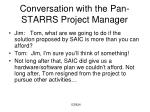 conversation with the pan starrs project manager