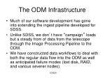 the odm infrastructure