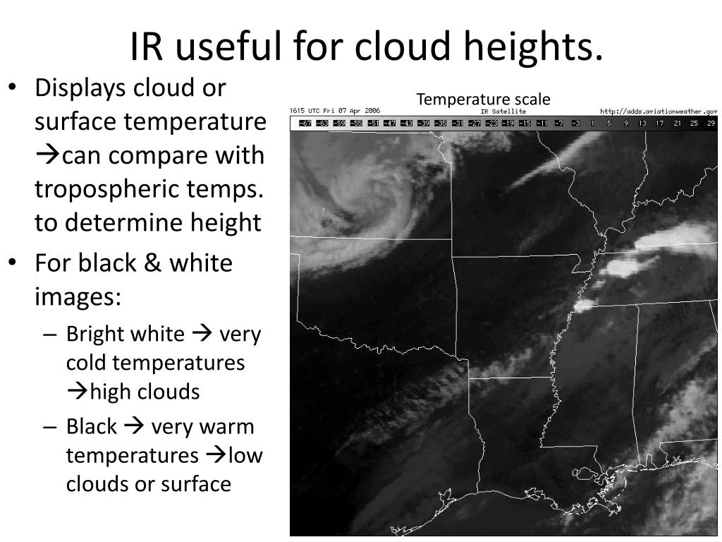 IR useful for cloud heights.