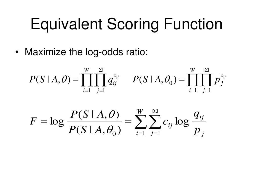 Equivalent Scoring Function