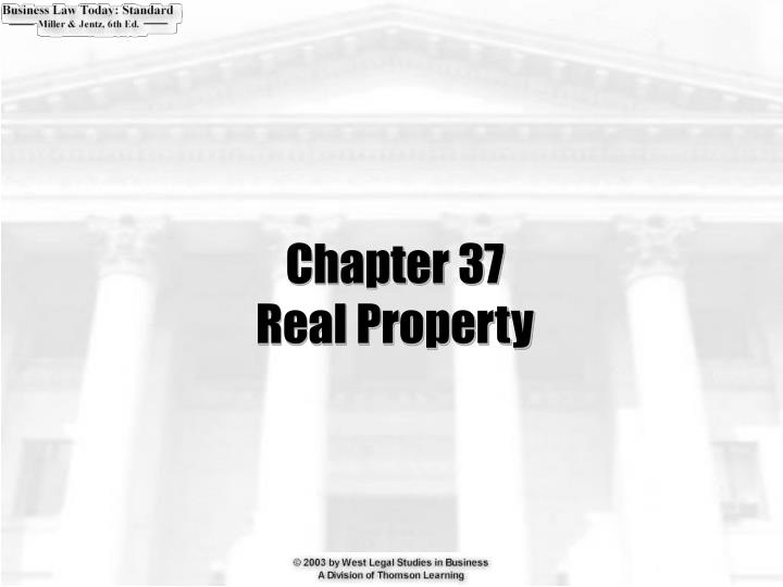 chapter 37 real property n.