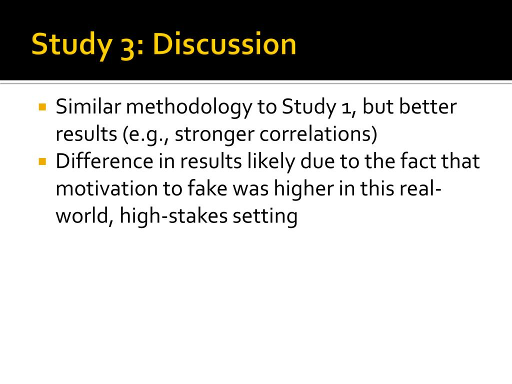 Study 3: Discussion