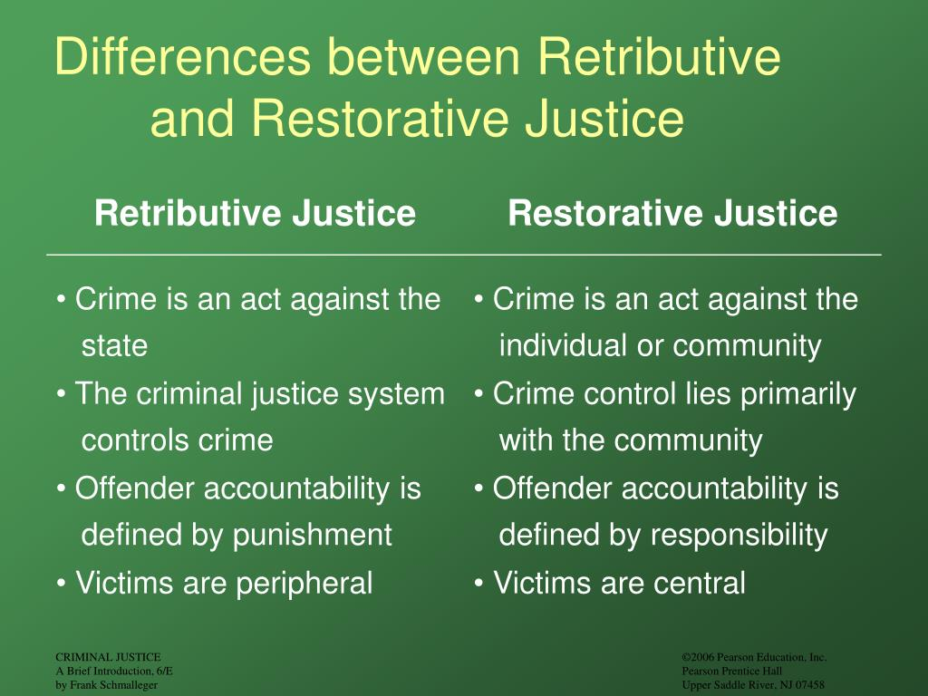 Differences between Retributive and Restorative Justice