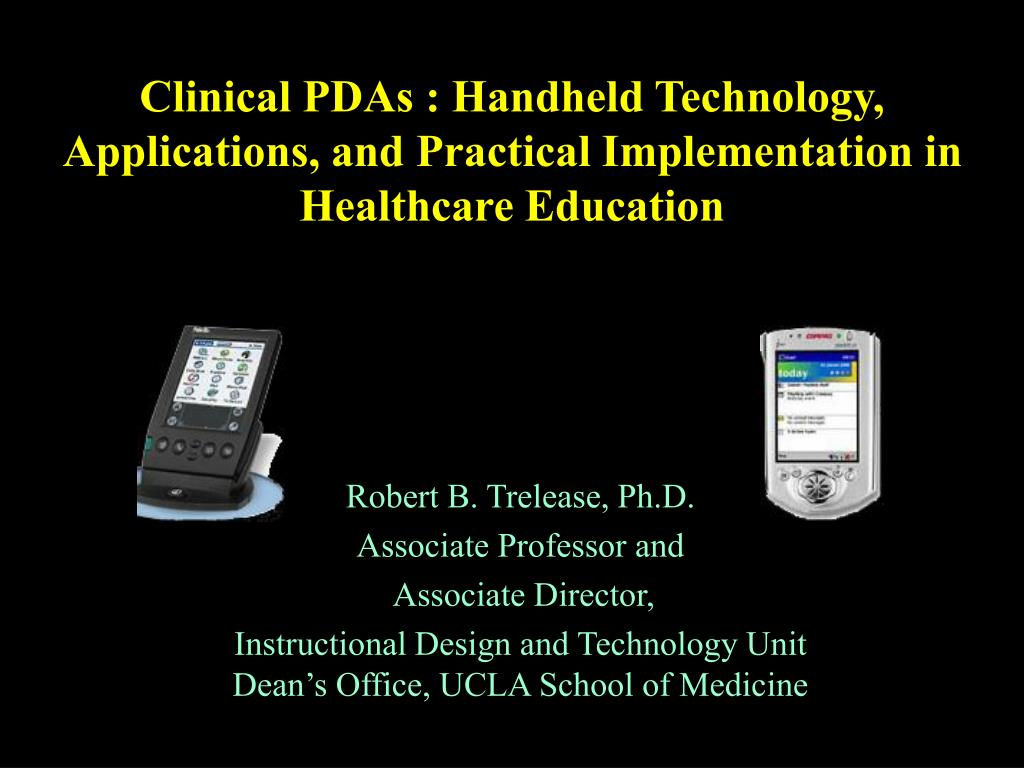 clinical pdas handheld technology applications and practical implementation in healthcare education l.