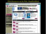 pda resources on the web handheldmed