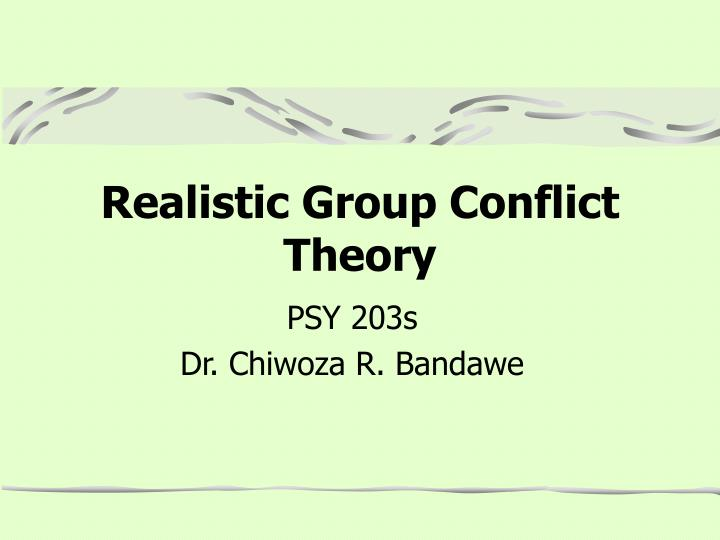 realistic group conflict theory n.
