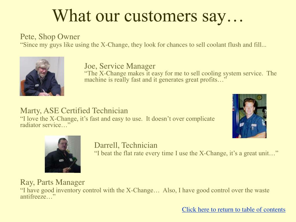What our customers say…