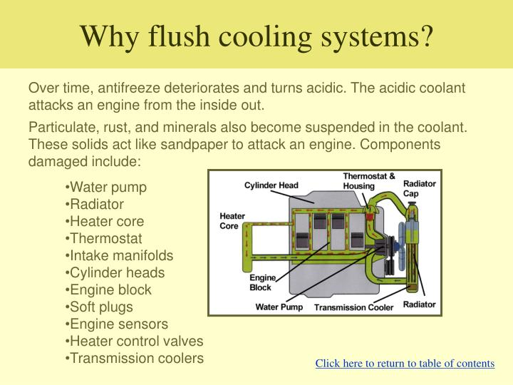 Why flush cooling systems