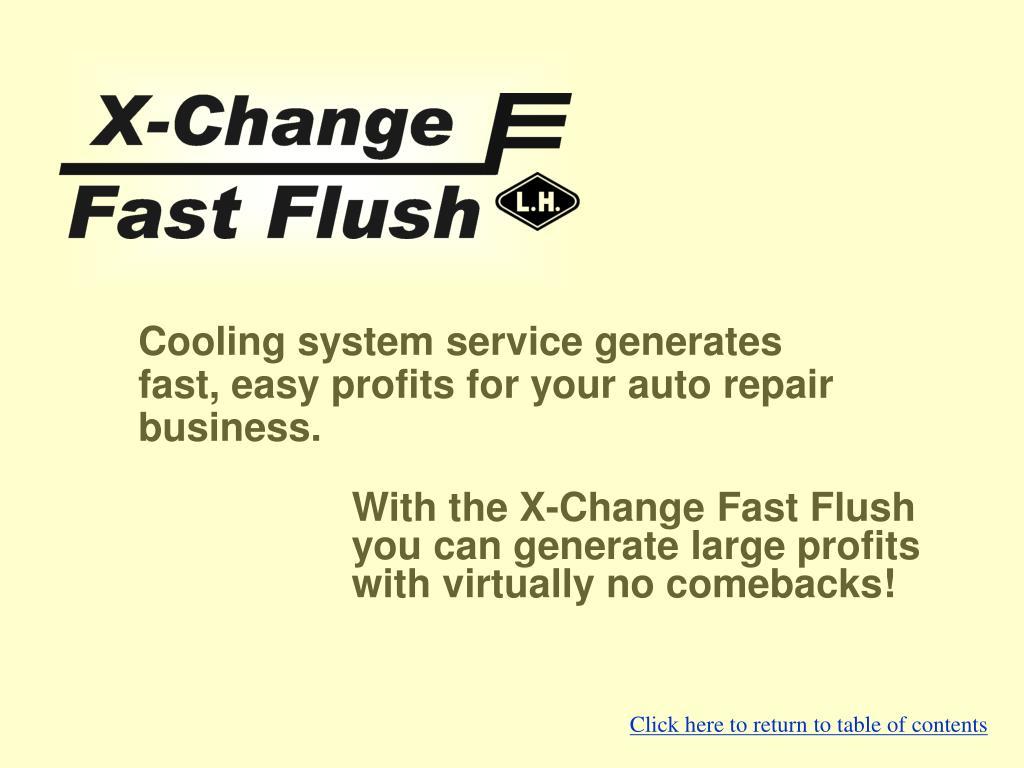 X-Change Fast Flush from Lujan USA