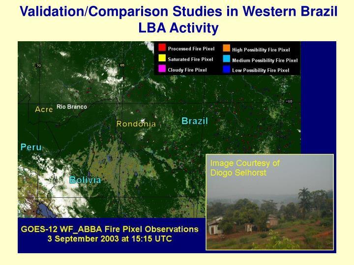 Validation comparison studies in western brazil lba activity