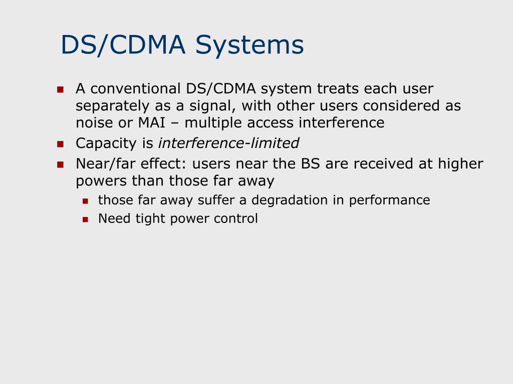 DS/CDMA Systems