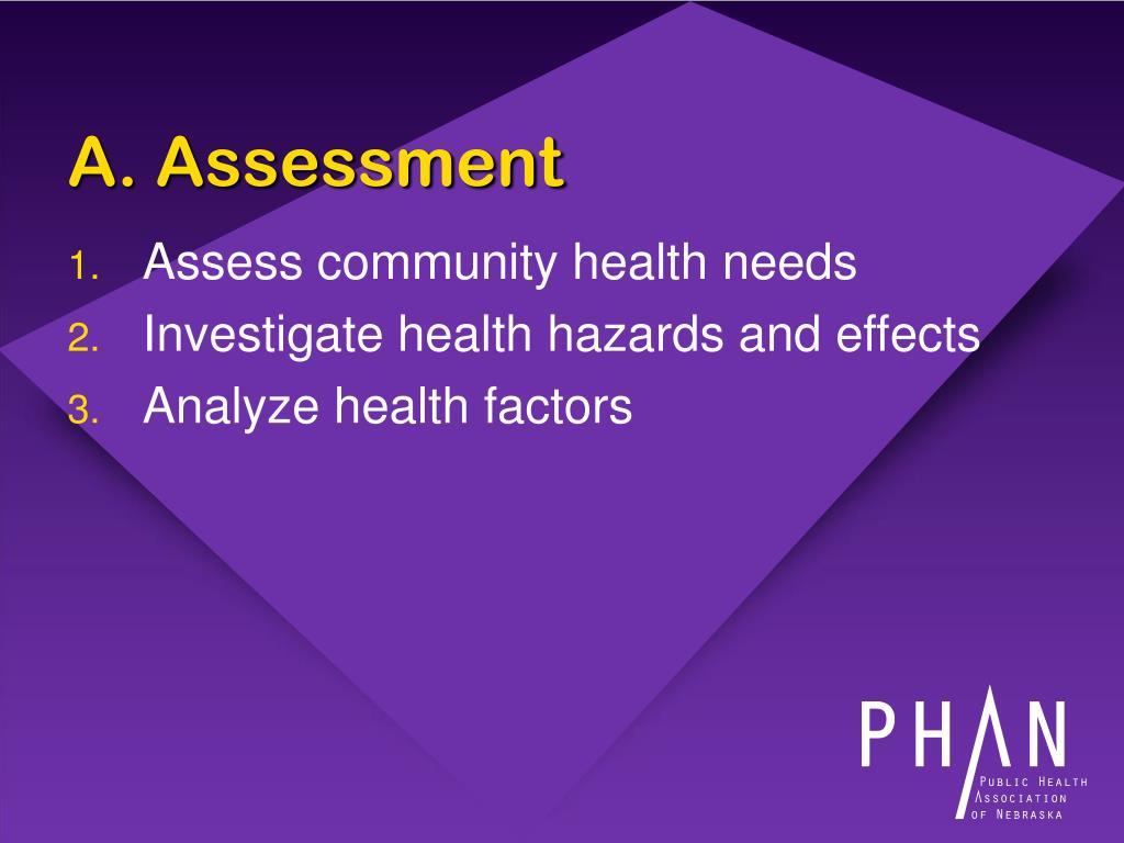 A. Assessment