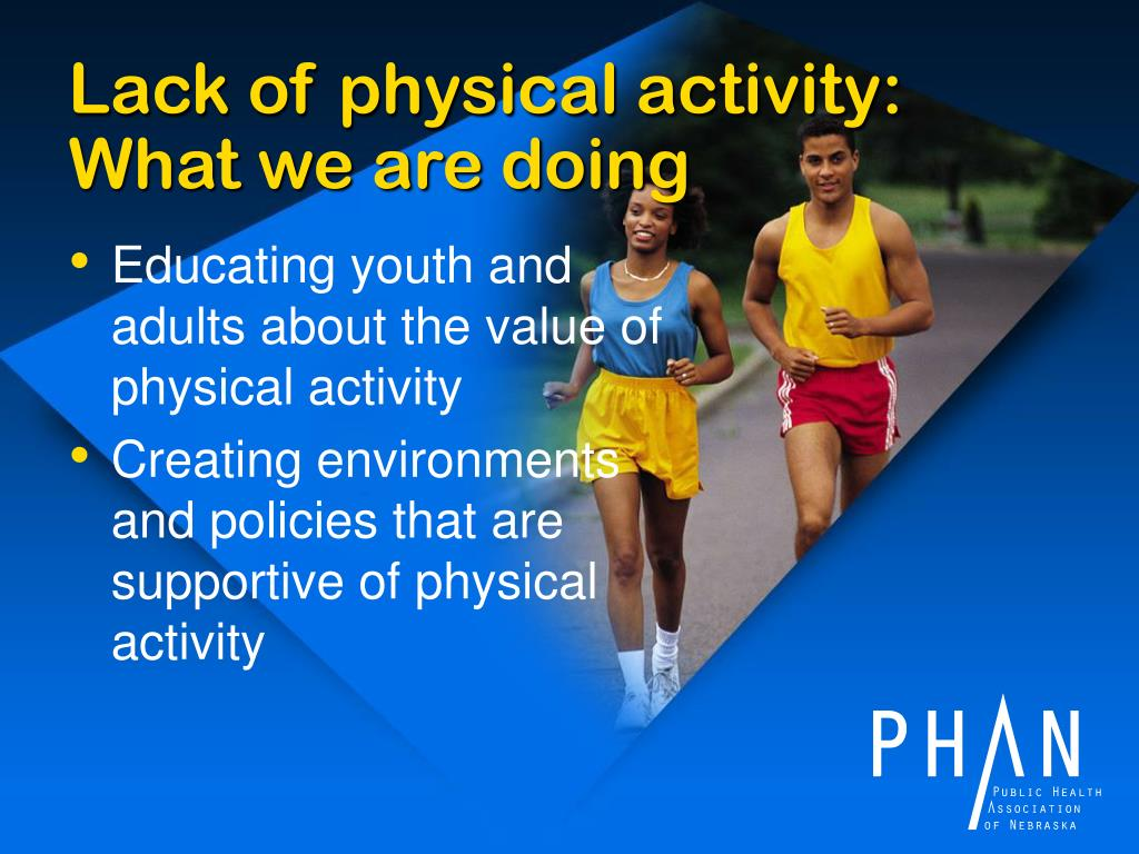 Lack of physical activity: