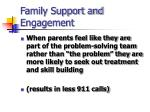 family support and engagement