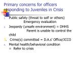 primary concerns for officers responding to juveniles in crisis