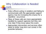why collaboration is needed cont