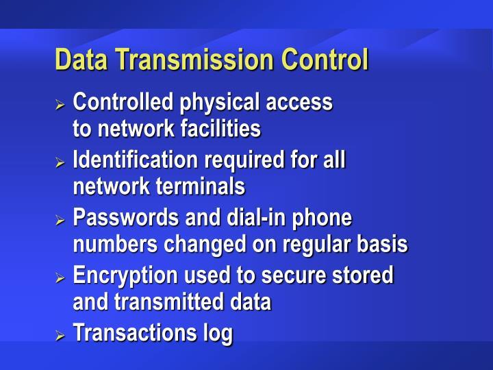 Data Transmission Control