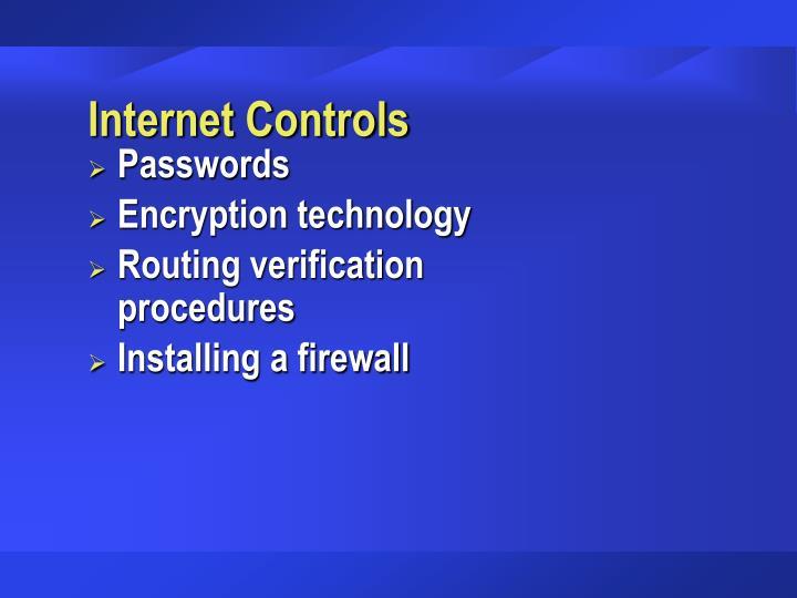 Internet Controls