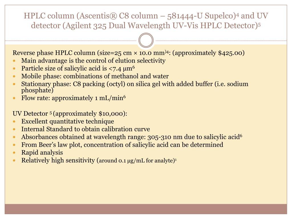 HPLC column (