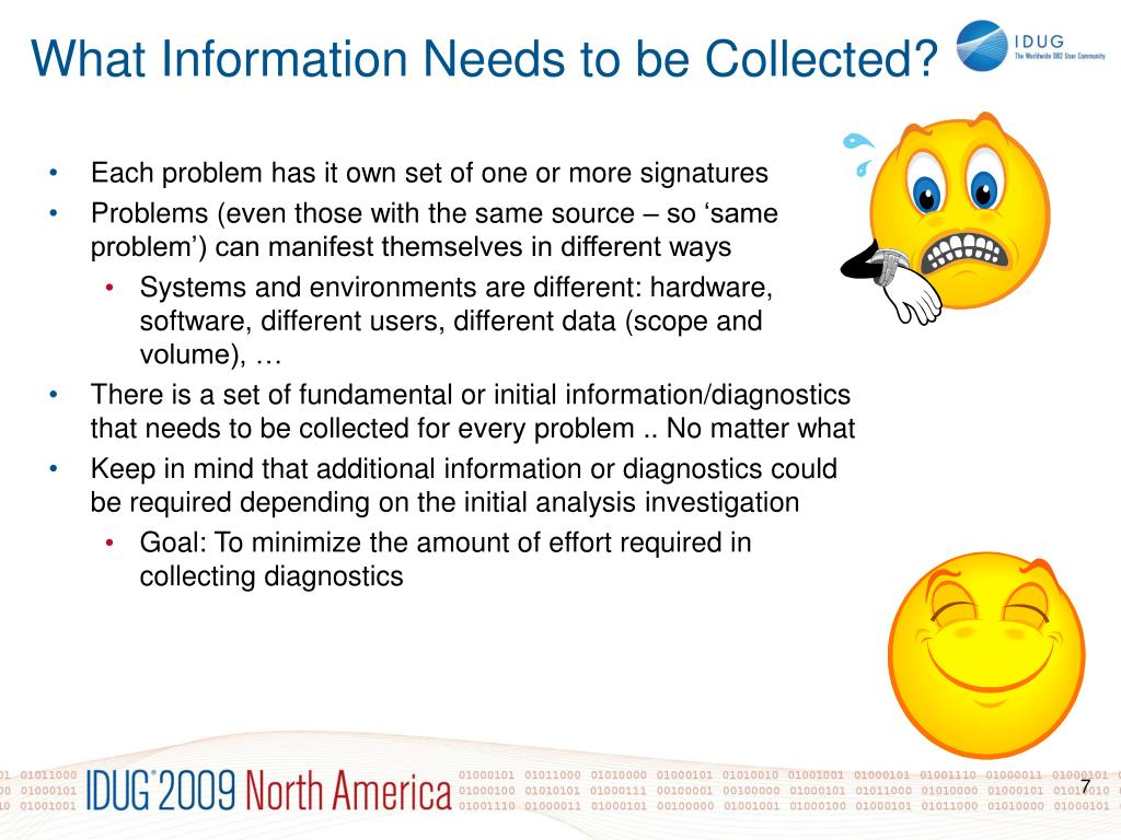 What Information Needs to be Collected?