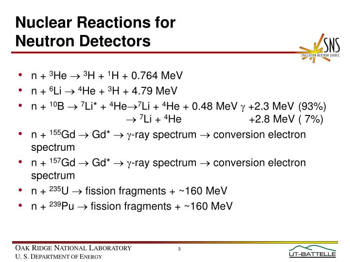 Nuclear Reactions for